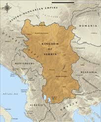 Map Of Serbia 25 July 1914 U2013 The Last Chance For Peace Slips Away The Great
