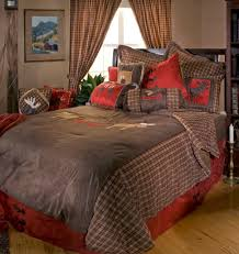 accessories charming rustic bedding cabin black forest decor