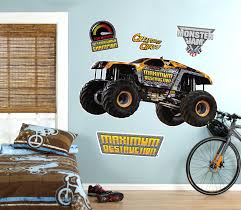 monster jam truck party supplies monster jam maximum destruction giant wall decal birthdayexpress com