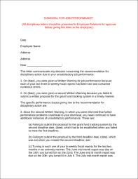 writing termination letters due to poor performance