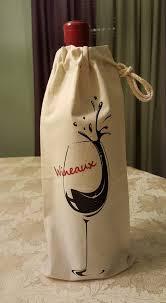 wine tote bag wine gift bag personalized wine bag christmas