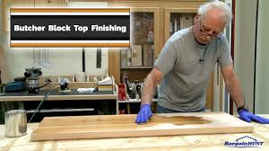 butcher block top finishing youtube