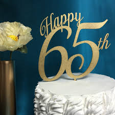 Birthday Cake Toppers Happy 65th Cake Topper 65th Cake Topper Birthday Cake Topper