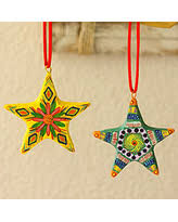 bargains on ceramic ornaments tree set of 6 guatemala