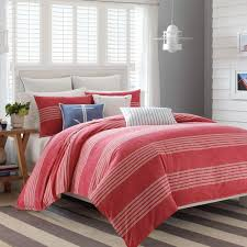 nautica trawler red duvet cover set free shipping today