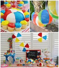 beach themed 1st birthday party ideas for a cool indoors beach