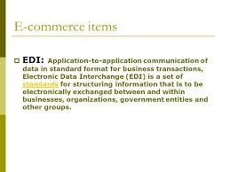 e commerce items edi application to application communication