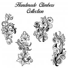 black and white henna designs climbers collection