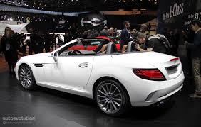 bagged mercedes c class mercedes slc loses v8 in detroit is a merc in benz u0027s clothing