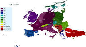 Cartogram Map Mapping A Continent Of People United In Diversity New Europeans
