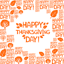 thanksgiving day orange leaf vector free vector graphic