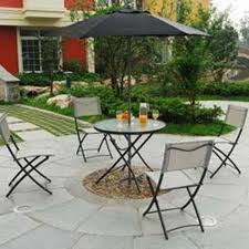 furniture retro metal patio chairs surrounding table with patio