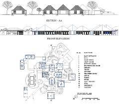 Elevation Floor Plan Auroville Kindergarten Designshare Projects