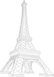 eiffel tower clipart line drawing pencil and in color eiffel