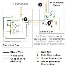 ceiling fan wire gauge rewire a switch that controls an outlet to control an overhead light