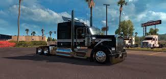 2016 kenworth kenworth w900 custom black and white skin american truck