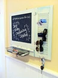 diy entryway organizer diy chalkboard entry organizer from re purposed cabinet door