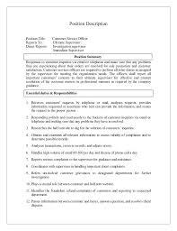 customer service officer resume sample customer service responsibilities resume u2013 foodcity me
