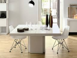 white square kitchen table temahome dusk modern square dining table in concrete finish 2 sizes