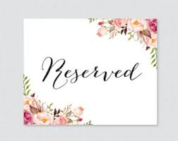 reserved signs for wedding tables wedding reserved sign reserved table sign reserved signs