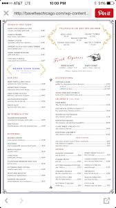 Wildfire Chicago Drink Menu by Bavette U0027s Chicago Potential Bday Restaurant Chicago