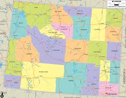map of wyoming detailed political map of wyoming ezilon maps