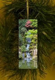 portland japanese garden autumn maples christmas ornament by