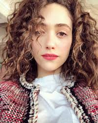 natural color of yolanda fosters hair emmy rossum embraces her curly hair texture pics
