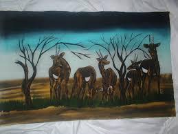 art craft auction ebay store africa kenya folk art picture print