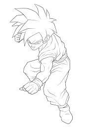 super saiyan coloring pages super heroes printable coloring pages