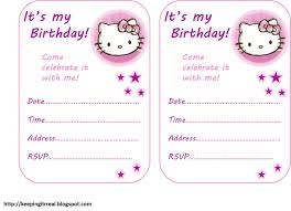 Hello Kitty Invitation Card Maker Free Free Printable Birthday Cards Hello Kitty Birthday Ideas