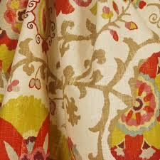 Suzani Fabric Chair Silsila Curry Braemore Suzani Fabric Traditional Drapery