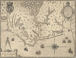 Virginia Coast Map by Us English John White U0027s Engravings Of Indian Life In Virginia A