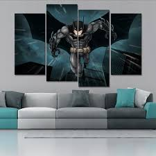 online shop wall painting home decor cuadros 4 panel cartoon super