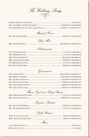 sle wedding ceremony program wedding program exles wedding program wording wedding ceremony