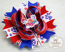 fourth of july hair bows flag hair bow etsy