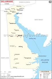 Map Of Canada With Cities by Cities In Delaware Map Of Delaware Cities