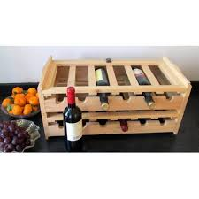 cumberland crate company boozy ben 12 bottle tabletop wine bottle