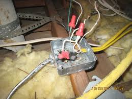 photo taken at a recent home inspection performed by camelot home