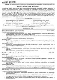 Sample Resume General by Avionics And Electrical Maintenance Resume Sample Resume