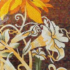 factory sale flowers glass mosaic cutting backsplash mosaic tile factory sale flowers glass mosaic cutting backsplash mosaic tile wall mural orange color sunflower mural on aliexpress com alibaba group