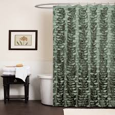 amazing green and brown shower curtains decor with blue green