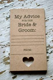 my advice for the and groom cards wedding advice cards ideas