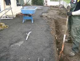 Concrete Patio With Pavers Laying Brick Pavers On Cement Steve Snedeker U0027s Landscaping And