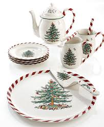 spode dinnerware tree peppermint collection