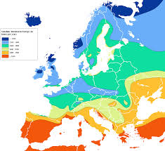 Europe Map by File Europe Sunshine Hours Map Png Wikimedia Commons