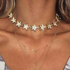 star choker necklace images Among the leaders choker gold JPG