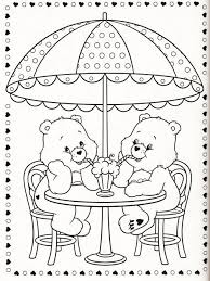 breakfast care bear coloring pages friend free coloring book