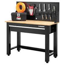 wood top work table bench home depot work bench husky ft solid wood top workbench