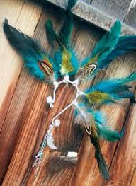 how to make feather ear cuffs fox a tribal feathered ear cuff made to order handmade